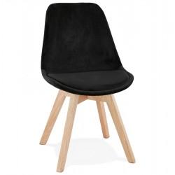 Eames Inspired - DSW Velvet Chair Squared Legs - Black