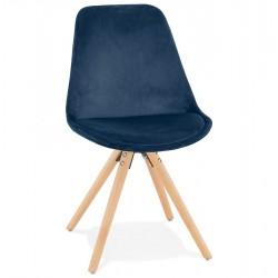 Eames Inspired - DSW Velvet Chair Pyramid Legs - Blue