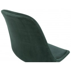 Eames Inspired - DSW Velvet Chair Black & Gold Pyramid Legs - Green Back Detail