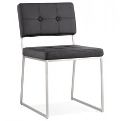 Gamo Faux Leather Dining Chair - Black