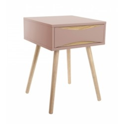 Decorah Side Table, pink, front angled view