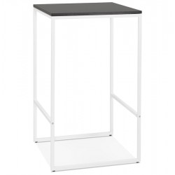 Millia Industrial Style Bar Height Table - White Frame/ Black Top
