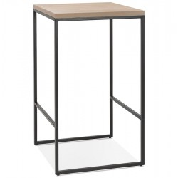 Tikafo Industrial Style Bar Height Table - Natural/Black