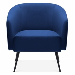 Ocala Velvet Armchair, royal blue, front view