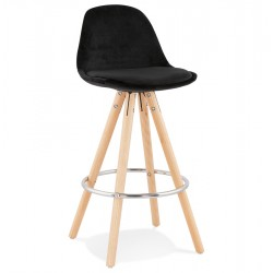 Eames Inspired - DSW Black Velvet Stool 