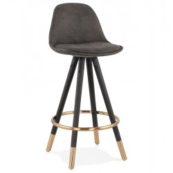 Skuce Designer Inspired Bar Stool - 65cm Dark Grey