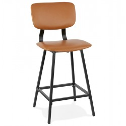 Coatana Faux Leather Bar Stool - 65cm