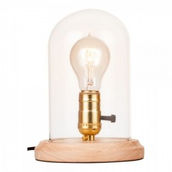 Bell Jar Table Lamp With Glass Dome