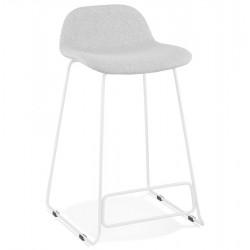 Nanaimo  Designer 66cm  Bar Stool - Grey / White Legs