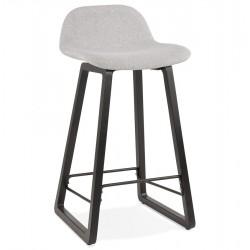 Trapa Mid Height Bar Stool - Grey/ Black Legs