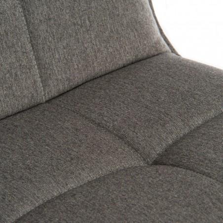 Bedford Swivel Bar Stool - Grey  Seat Detail