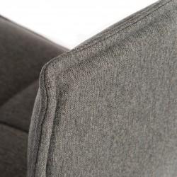 Bedford Swivel Bar Stool - Grey  Back Detail