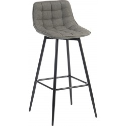 Bedford Grey Upholstered Bar Stool
