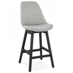 Quokka Mid Century Style 65cm Bar Stool Grey / Black Legs