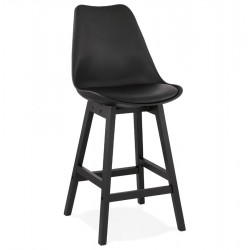 Aprilla Scandi Style 65cm  Bar Stool - Black /Black Legs