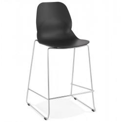 Hoagie Designer 67cm Bar Stool - Black/ Chrome Legs