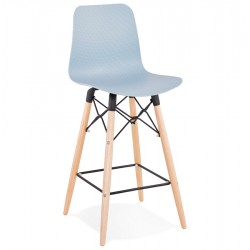 Plassen Scandi Inspired 68cm  Bar Stool - Light Blue