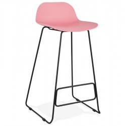 Sladon Contemporary 76cm Bar Stool - Pink/ Black Legs
