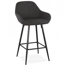 Klappa Faux Leather Bar Stool