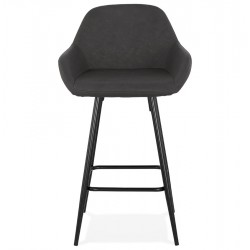 Klappa Faux Leather Bar Stool Front View