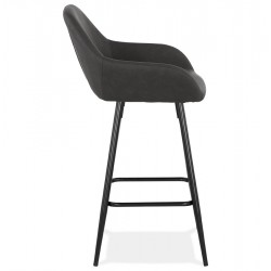 Klappa Faux Leather Bar Stool Side View