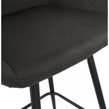 Klappa Faux Leather Bar Stool Seat Detail