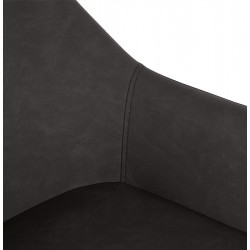 Klappa Faux Leather Bar Stool Back Detail