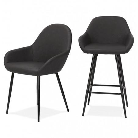 Klappa Faux Leather Bar Stool & Matching Seat