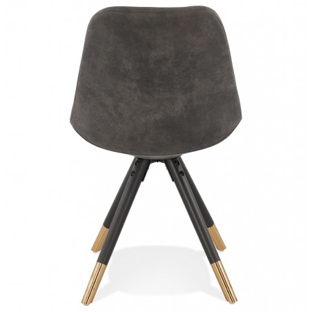 Sidona - DSW Style Chair Black & Gold Pyramid Legs Rear View