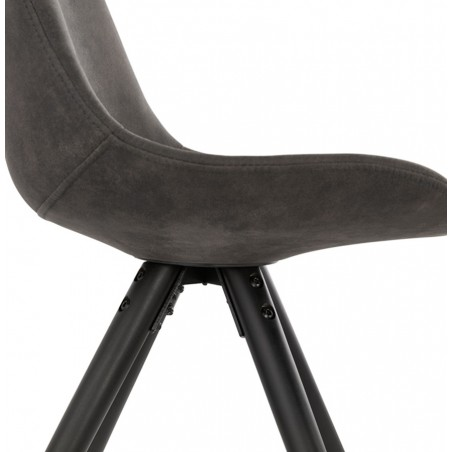 Sidona - DSW Style Chair Black & Gold Pyramid Legs  Side Detail