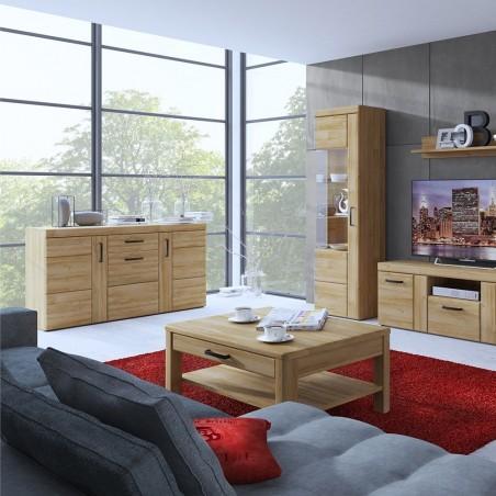 Skipton 3 Door 1 Drawer Sideboard in grandson oak colour, room shot 1
