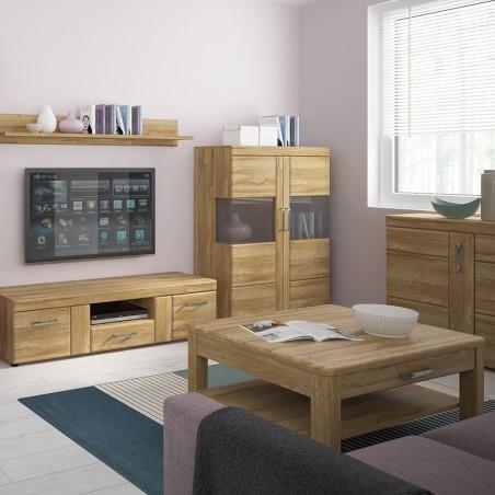 Skipton 3 Door 1 Drawer Sideboard in grandson oak colour, room shot 2