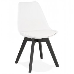 Blaney Designer Inspired Chair - White /Black Legs