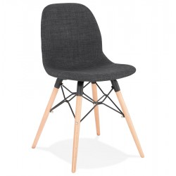 Vallen Scandi Inspired Dining Chair - Dark Grey