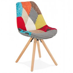 Kolour Patchwork Fabric Chair with Pyramid Legs
