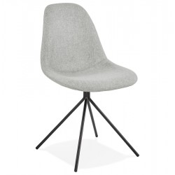 Kirk Modern Dining Chair Grey/ Black Legs