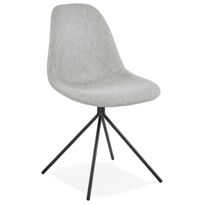 Kirk Modern Dining Chair Grey/ Black Legs