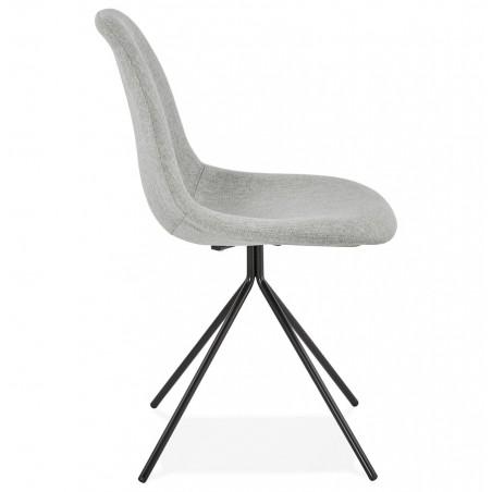 Kirk Modern Dining Chair Grey/ Black Legs Side View