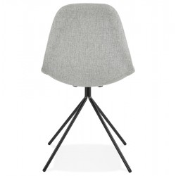 Kirk Modern Dining Chair Grey/ Black Legs Rear View