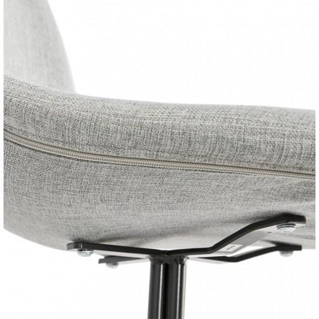 Kirk Modern Dining Chair Grey/ Black Legs Fixing Detail