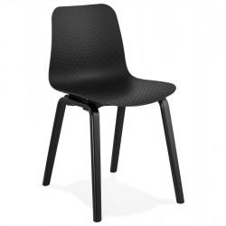 Monart Modern Dining Chair - Black/ Black Legs