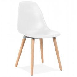 Docra Scandi Style Dining Chair - White