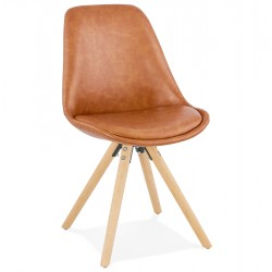 Sven Faux Leather Dining Chair - Nat Legs