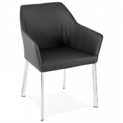 Descanson Black Armchair