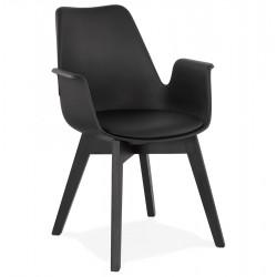 Alcapona Modern Armchair Black/ Black Legs