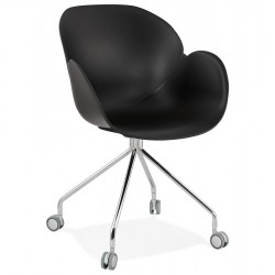 Rullieo Modern Office Style Armchair - Black