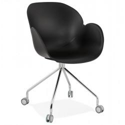 Rullieo Modern Office Style Armchair - Black