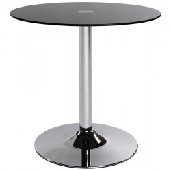 Cromo Glass Top Coffee Table Black
