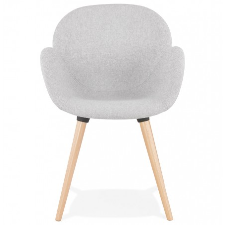 Sagia Fabric Upholstered Armchair - Front View