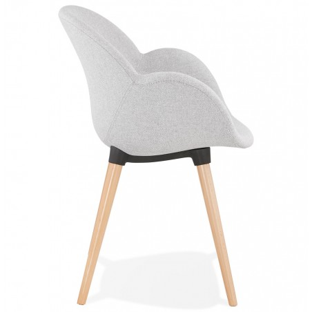 Sagia Fabric Upholstered Armchair - Side View